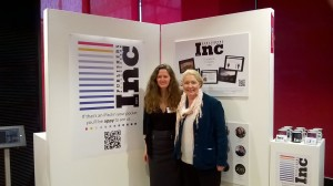 Publishers Inc 2015's Editor-in-chief Susan Kemp with Stephanie Roxburgh, who was interviewed for the app